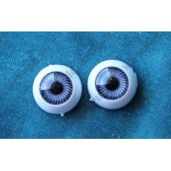 Глазки 12мм, цвет - сиреневый, 2шт