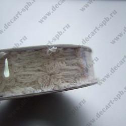 Тесьма кружевная нежная 13 мм слоновая кость, длина 50 см