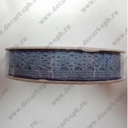 Тесьма кружево кайма 1,5см коричневая, длина 50 см