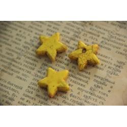 Бусина имитация бирюзы Звезда, цвет - , 20мм