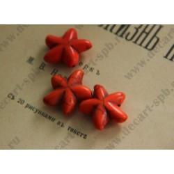 Бусина имитация бирюзы Морская звезда, цвет - , 20мм