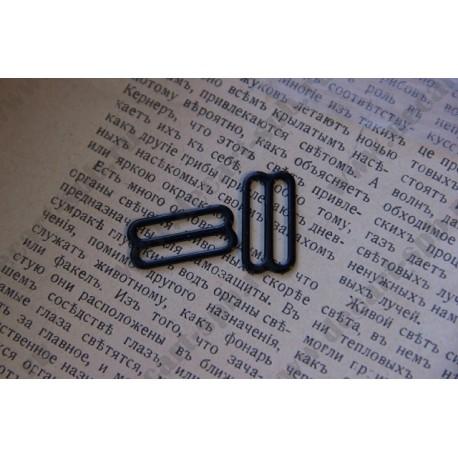 Регулятор для ленты 20мм,металл, цвет - черный, 1шт