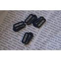 Крючок для ленты 15мм, пластик, цвет - черный, 1шт
