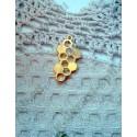 Подвеска Соты 32х17мм, цвет - золото, 1шт