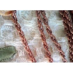 Цепь Скрученное плетение, 3х2мм, цвет - медь, 1м