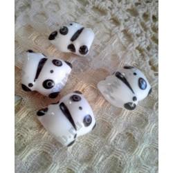 Бусина керамическая Панда, 19х17мм, 1шт
