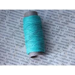Нитка пеньковая для плетения 1мм толщина18 м, зеленый