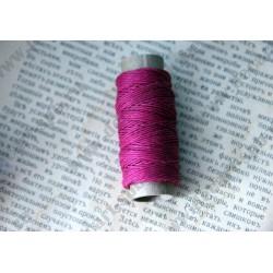 Нитка пеньковая для плетения 1мм толщина18 м, розовый