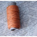 Нитка пеньковая для плетения 1мм толщина18 м, оранжевый