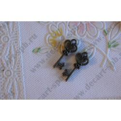 Подвеска Ключ, 20х8мм, цвет - латунь