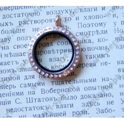 Арома медальон, 40х32мм, цвет - латунь