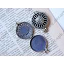Арома медальон, 43х32мм, цвет - латунь