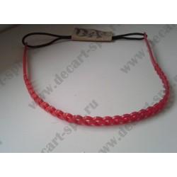 Основа под обруч силиконовая толщина 7мм, цвет - красный