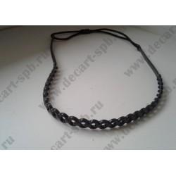 Основа под обруч силиконовая толщина 5мм, цвет - черный