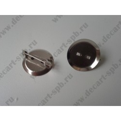 Заготовка для броши-значка 20мм никель