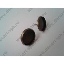 Основа для пуссет с основой для кабашона14мм, цвет - бронза, пара