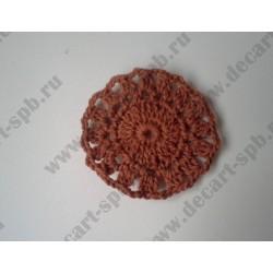 Вязанный цветок, диаметр 6см, 1 шт