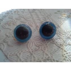 Глазки для игрушек, синие, 15мм, пластик