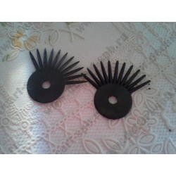 Реснички для глаз диаметром 20мм, черные, пара