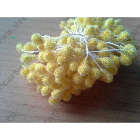 тычинки двусторонние сахарные, цвет желтый