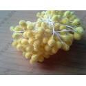 Тычинки двусторонние сахарные, цвет желтый, 1 шт