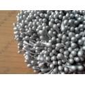 Тычинки двусторонние перламутровые, цвет серебристый, 1 шт