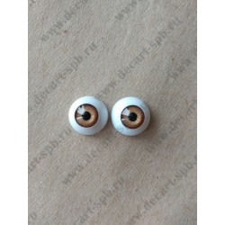 Глазки 16мм, цвет - голубой, 2шт