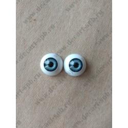 Глазки 16мм, цвет - светло-коричневый, 2шт