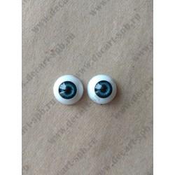 Глазки 16мм, цвет - серо-голубой, 2шт