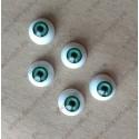 Глазки 16мм, цвет - зеленый, 2шт
