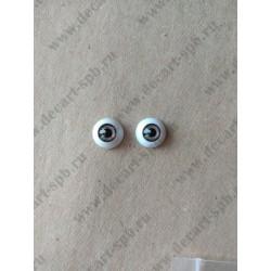 Глазки 12мм, цвет - темно-серый, 2шт