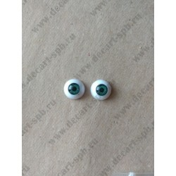 Глазки 12мм, цвет - зеленый, 2шт