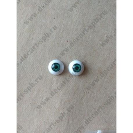 Глазки 12мм, цвет - коричневый, 2шт