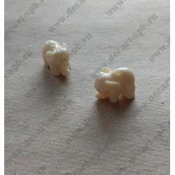 Фигурка Слоник, пластик, ок. 10х15мм, 1 шт
