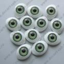 Глазки для кукол 12х8мм зрачок 6мм зеленый, пара
