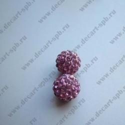Бусина Шамбала 10мм розовый