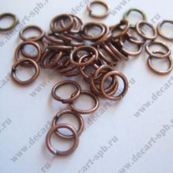 Кольцо для бус 6мм (медь) 25шт