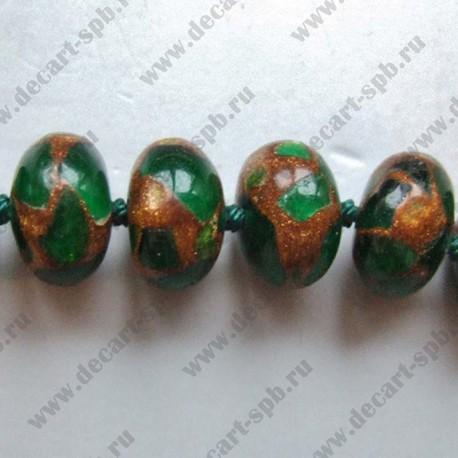 Варисцит зеленый рондель 7х12 мм