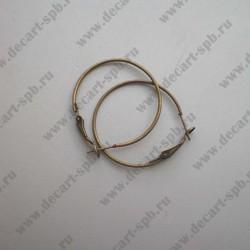 Швензы для серег кольцо 35мм (бронза) пара