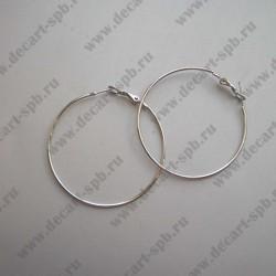 Швензы для серег кольцо 45мм ант серебро