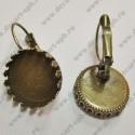 Швензы для серег с основой для 14мм диаметр цвет-бронза пара