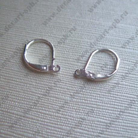 Швензы округлые 16х10мм (серебро) пара