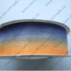 Органза 25мм оранжево-фиолетовый 1м