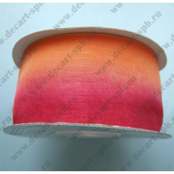Органза 38мм оранжево-красная 1м