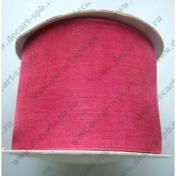 Органза 50мм темно-розовая1м