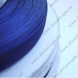 Органза 6мм темно-синяя 1м