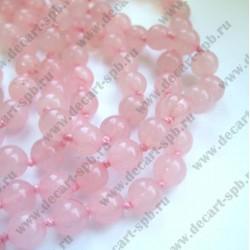 Бусина кварц 8мм розовый