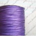 Шнур вощеный 1,5мм, премиум, фиолет, 1м