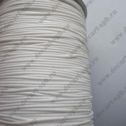 Шнур вощеный 1,5мм премиум белый 1м