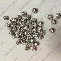 Бубунчик мкталлический диаметр 10мм 10штук цвет-никель
